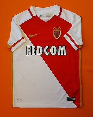 5/5 Monaco kids jersey 2015 2016 home shirt 8-10 years soccer football Nike image