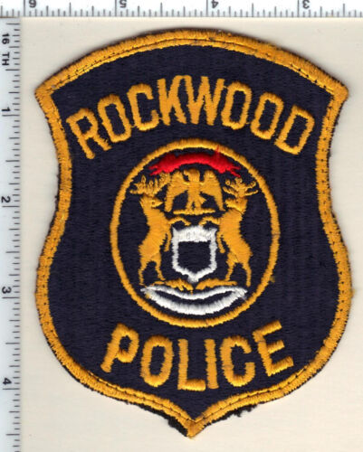 Rockwood Police (Michigan) Uniform Take-Off Shoulder Patch from 1992