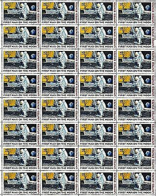 1969 - MAN ON THE MOON - #C76 Full Mint -MNH- Sheet of 50 Airmail Stamps