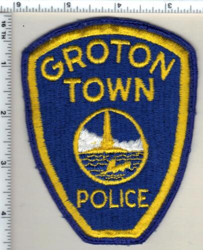 Groton Town Police (Connecticut) Uniform Take-Off Shoulder Patch - from 1980