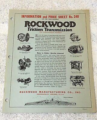 Saw Mill Rockwood Friction Transmission Catalog