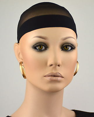 2 X HAARNETZ Perückennetz in SCHWARZ Haar Netz wig cap Perücken Unterziehhaube