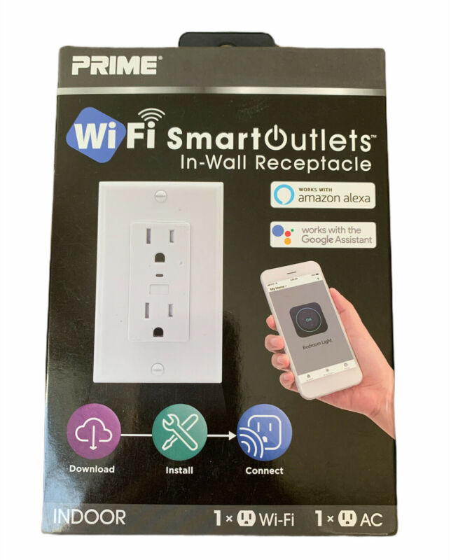Prime In Wall Indoor Wifi Smart Outlet Alexa Google
