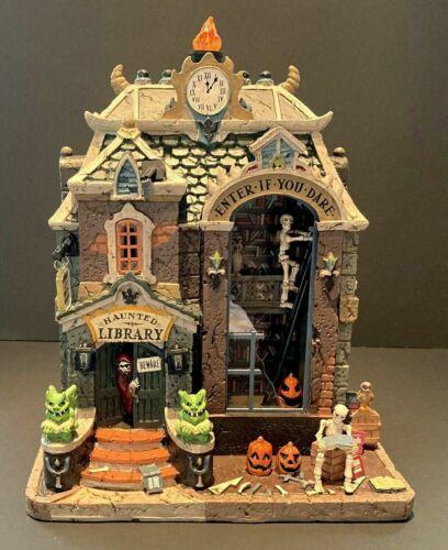 LEMAX Spooky Town HAUNTED LIBRARY 🎃 Illuminated Halloween Village 95441 New Box