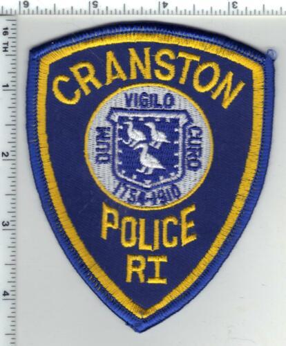 Cranston Police (Rhode Island) 1st Issue Blue Background Shoulder Patch