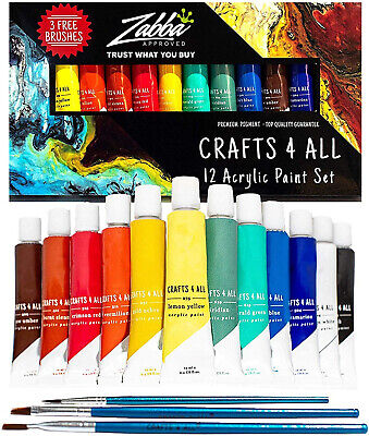 acrylic paint set 12 colors by perfect