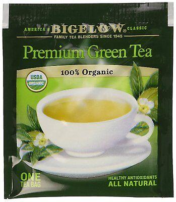 Bigelow Premium Chinese Green Tea 100% USDA Organic Individually Wrapped Tea Bag ()