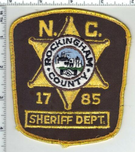 Rockingham County Sheriff (North Carolina) 3rd Issue Uniform Take-Off Patch
