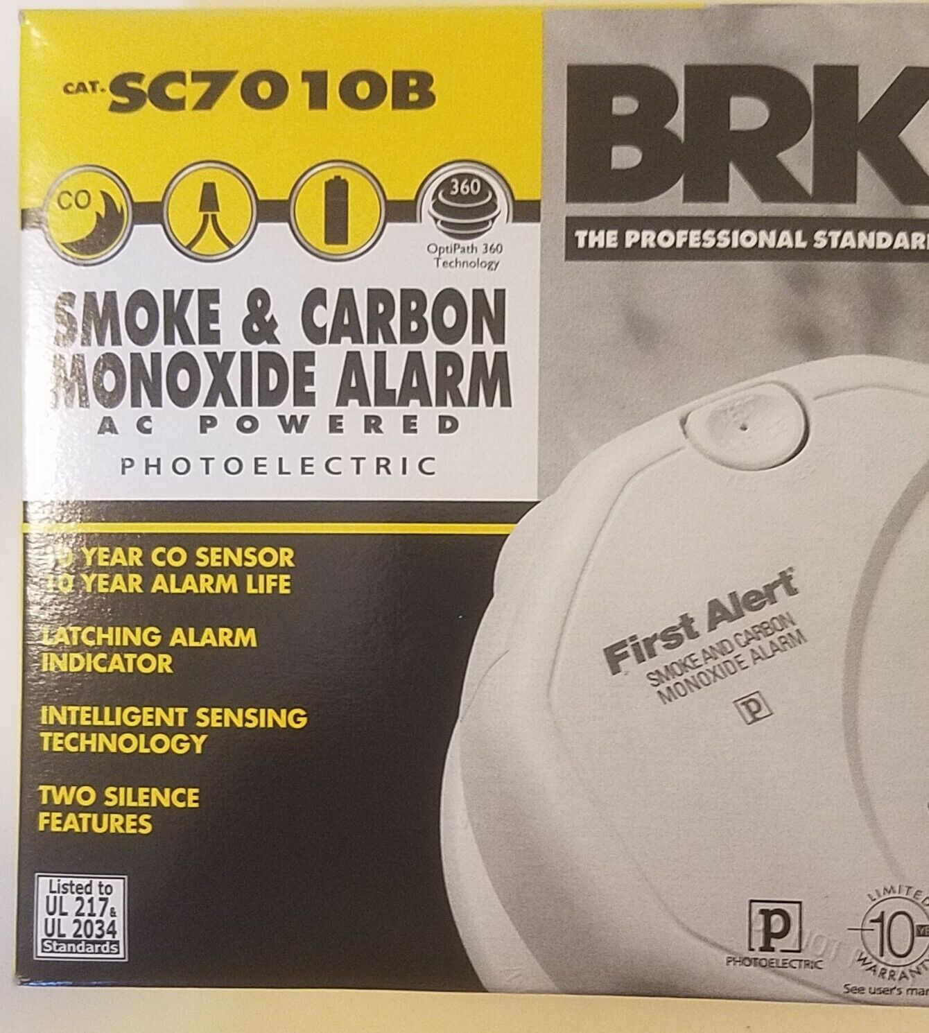 BRK Electronics SC7010B Hard Wired T3 Smoke & T4 Carbon Mono