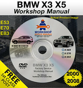 bmw x3 x5 workshop service repair manual e53 e70 e83 2000. Black Bedroom Furniture Sets. Home Design Ideas