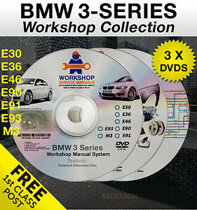 BMW 3 Series Workshop Service Manual E30 E36 E46 E90 E91 E92 E93 M3 Parts Wiring