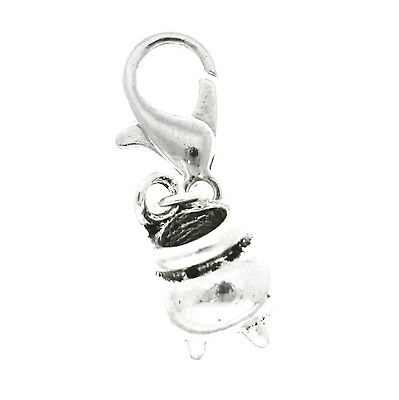 AVBeads Clip-On Clasp Metal Silver Pagan Wiccan Cauldron Halloween Witch Charms (Pagan Holiday Halloween)