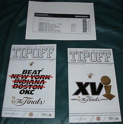 MIAMI HEAT 2012 FINALS PROGRAMS (2) 2012 NBA CHAMPIONS LEBRON JAMES DWYANE WADE