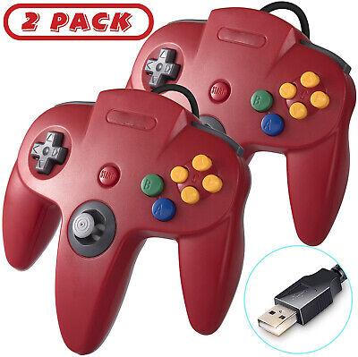 2X Rot INNEXT USB Nintendo 64 N64 Controller für PC Windows Raspberry Pi Gamepad gebraucht kaufen  Deutschland