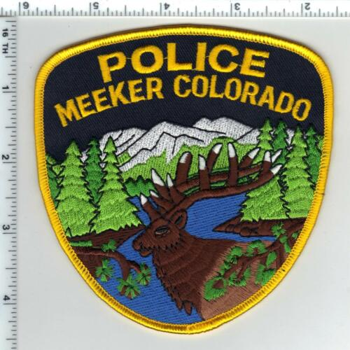 Meeker Police (Colorado) Shoulder Patch - new from the 1980