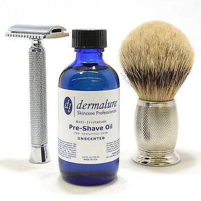 BEST Pre Shave Shaving Oil UNSCENTED* Blend of 11 Different OIL 100% All (Best Pre Shave Oil)