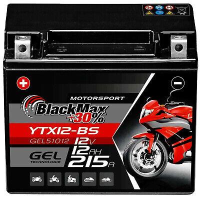 BlackMax YTX12-BS Motorradbatterie GEL 12V 12Ah CTX12-BS Batterie 51012 Quad gebraucht kaufen  Dinklage
