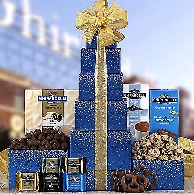 Ghirardelli Chocolate Tower Gift Basket Valentines Day Mothers Day Yummy Me