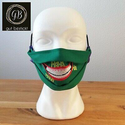 Mundschutz, Maske, Behelfsmaske, Joker-Maske, the Joker, Grinsen, waschbar