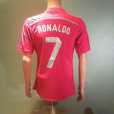 9b0de2db8 2014 2015 Ronaldo 7 Real madrid Men s Away Pink Jersey XLarge for sale  Dallas