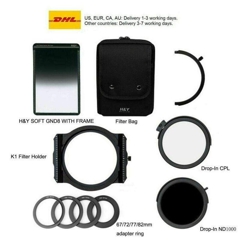 H&Y K1 Magnetic 100mm filter holder kit K-series+MRC CPL+ND1000+SOFT GND8 set
