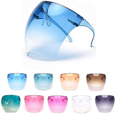 Glasses Face Mask Clear Face Shield With 180 Degree Safety Coverage Anti-fog