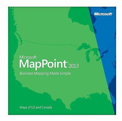 Microsoft MapPoint 2013 North America- 3 PC's