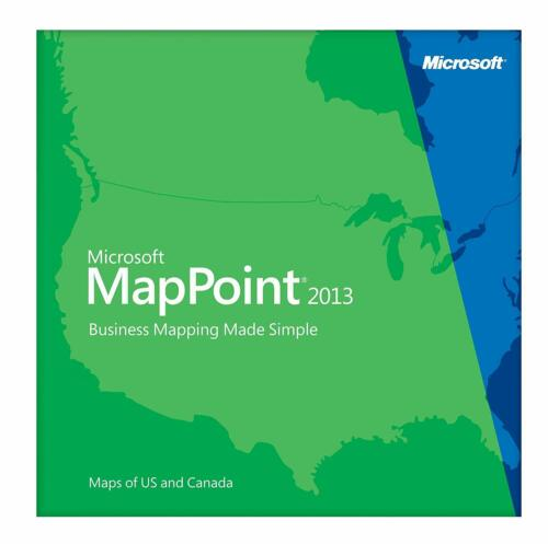 Microsoft MapPoint 2013 North America- 3 PC