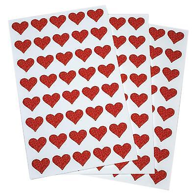 Valentines Day Envelope Box Stickers 3/4 Inch Heart Shape Craft DIY Art Labels