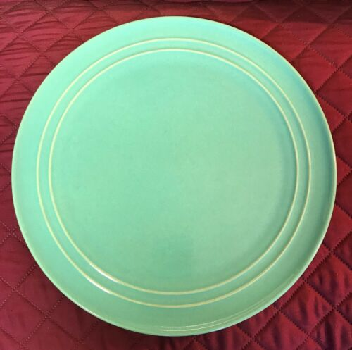 """PACIFIC POTTERY CHOP PLATE -  HUGE GREEN PLATTER - CHARGER - 16"""""""""""