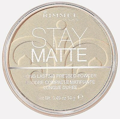 (2 Pack) Rimmel Stay Matte - Shine Control Pressed Powder - Creamy Natural