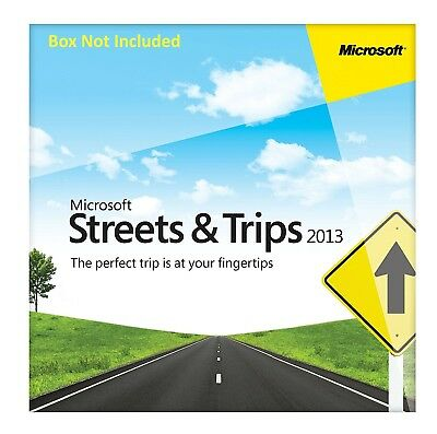Microsoft Streets and Trips 2013 - 2 PC