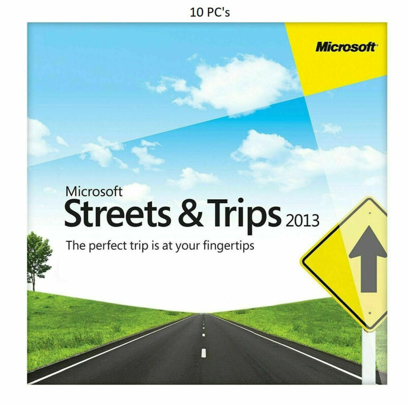 Streets and Trips 2013 Navigation Software For 10 Pc