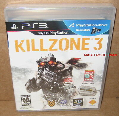 Killzone 3 Black Label (PlayStation 3, 2011) New Sealed PS3 (Move & 3D Ready) segunda mano  Embacar hacia Argentina