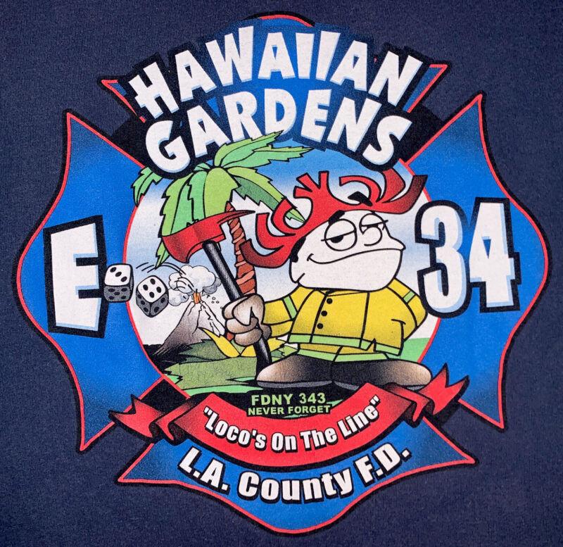 LAFD Los Angeles Fire Department 34 California Pacific Beach CA T- Shirt Sz XL