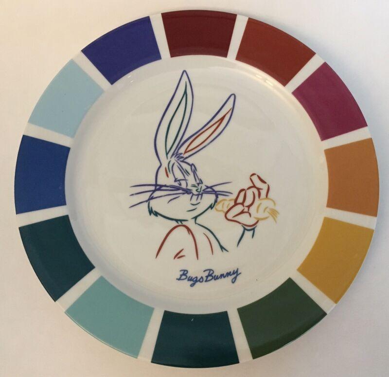 """Warner Bros. Looney Tunes Bugs Bunny Color Block Plate 10"""""""