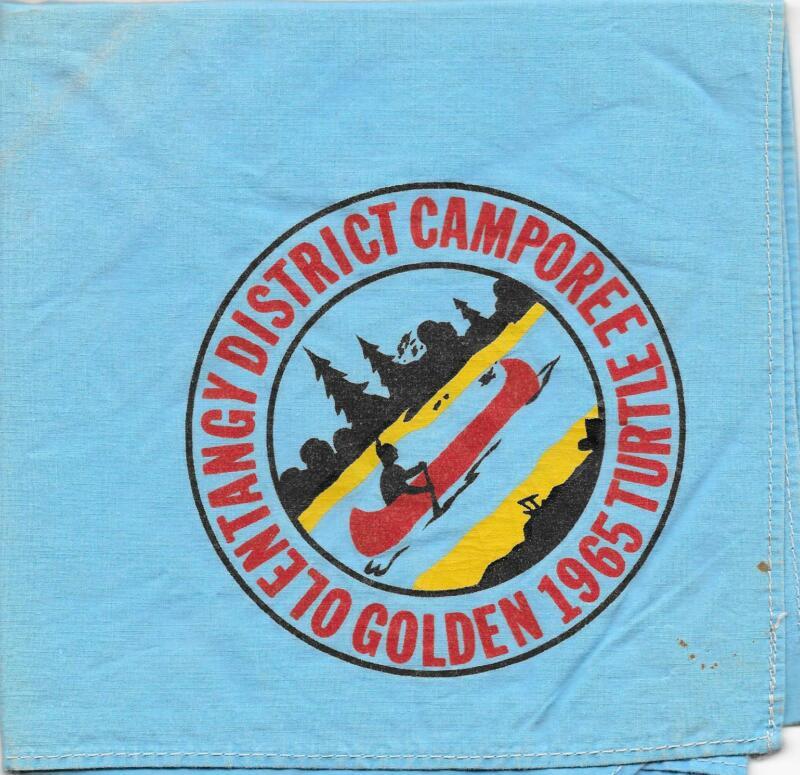 1965 Golden Turtle Olentangy District Neckerchief Boy Scouts of America BSA