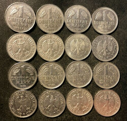 Old GERMANY Coin Lot - 16 Deutsche Marks - Great Coins - FREE SHIP