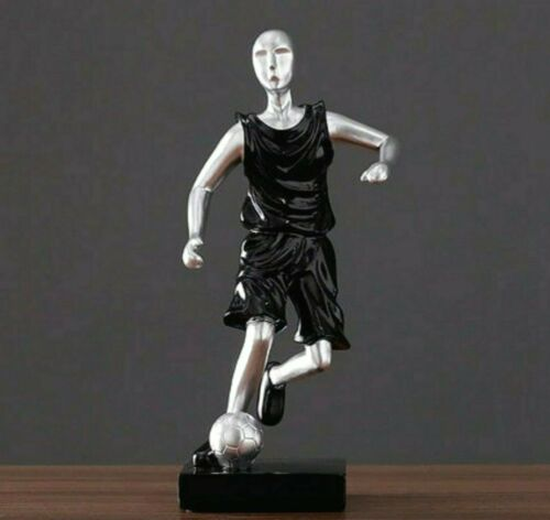 Football Player Resin Statue Sculpture Figurine Tabletop Home Office Decor Art S
