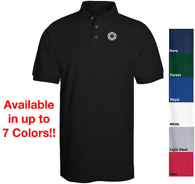 STAR WARS Imperial Empire Logo Embroidered Polo Shirt Avil. in 7 Colors Sith - Star Wars 7 Sith