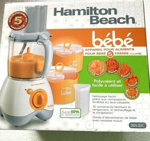 Hamilton Beach Bebe 5 Cup Baby Food Maker Food Processor Purée Steam Chop Slice
