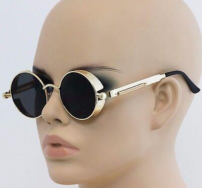 Round Metal Sunglasses Steampunk Men Women Fashion Glasses Brand Designer Retro](Steampunk For Men)