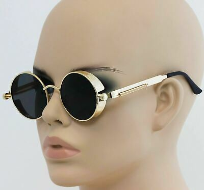 Round Metal Sunglasses Steampunk Men Women Fashion Glasses Brand Designer (Round Metal Glasses)
