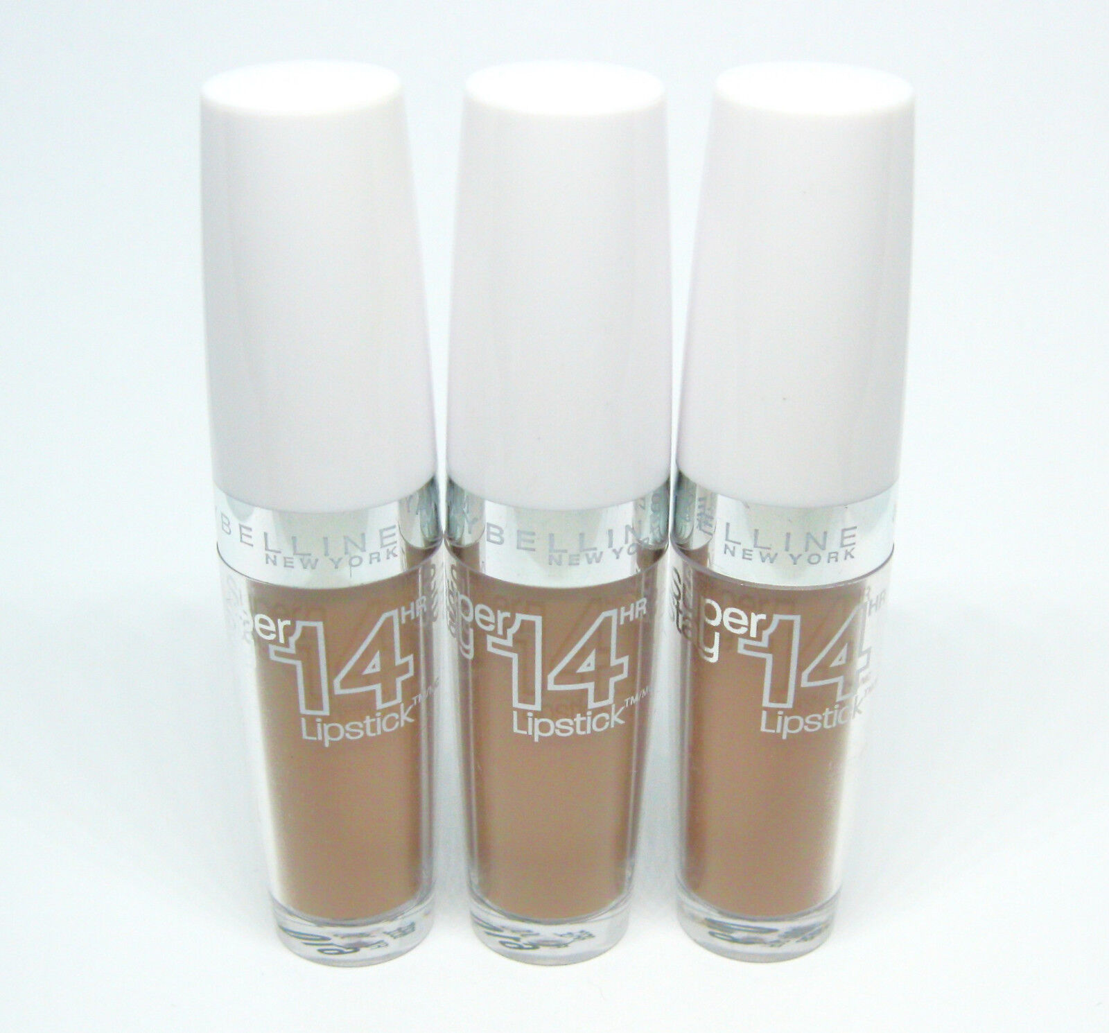 3 x MAYBELLINE Super Stay 14 HR Lipstick / Lippenstift - BEIGE FOR GOOD 610