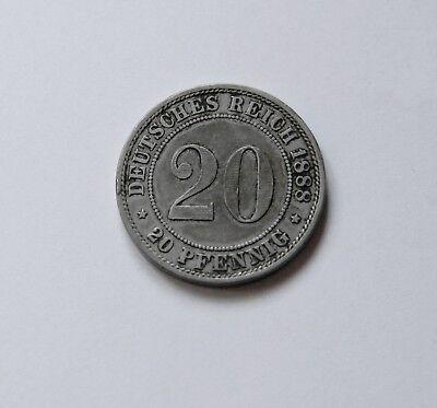 KAISERREICH: 20 Pfennig 1888 A, J. 6, schön !!!  II.