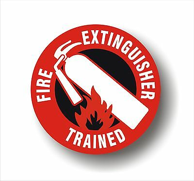 Safety Decal Hard Hat Fire Extinguisher Trained Employee Sticker Set Of 7