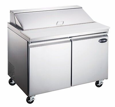 Saba 60 Commercial Stainless Steel Sandwich Prep Table Food Prep 16 Pans