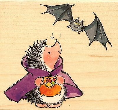 Hedgehog HALLOWEEN COUNT HEDGULA Wood Mounted Rubber Stamp PENNY BLACK 4286K New](Hedgehog Halloween)