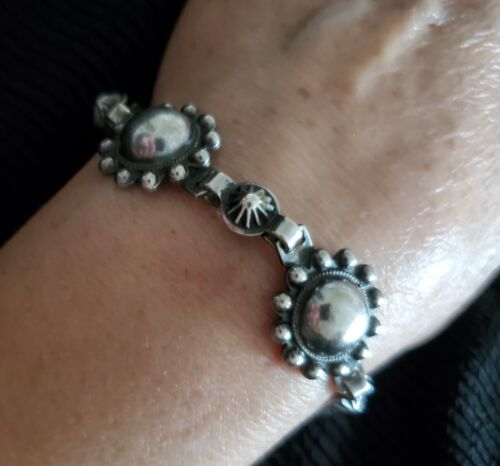 BEAUTIFUL! Old Navajo Silver Link Bracelet Excellent Quality HANDMADE 38gms EXC!
