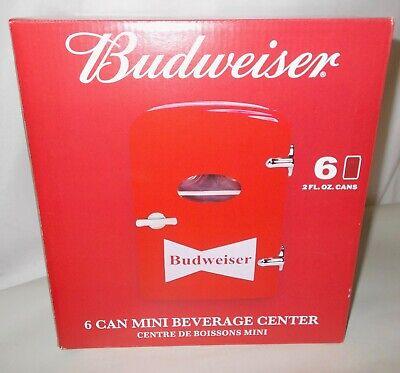 Budweiser 6 Can Mini Refrigerator Fridge Beverage Center Car Adapter New